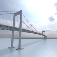 rainbow bridge tokyo 3d max