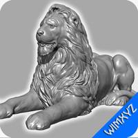 3d model stone lion