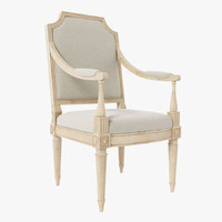 armchair louis xvi classic 3d model