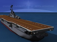 3d class carriers essex uss model