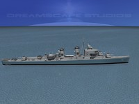 3d model sumner class destroyers