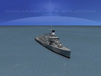 3ds max sumner class destroyers
