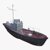 ready boat yaroslavets 376y 3d obj