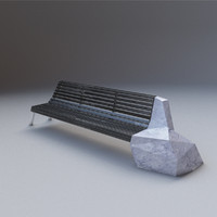 designer bench 3d model