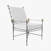 3d amalfi adjustable chair lounge model