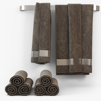 towel cloth fabric 3d model