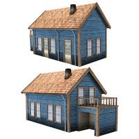 3ds max scandinavian house