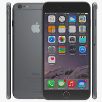 3d iphone 6 space gray model