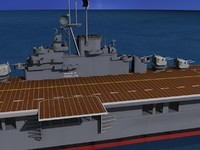 3d model of anti-aircraft class carriers ticonderoga