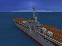 anti-aircraft class carriers ticonderoga 3d max