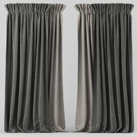 curtain fabric 3d model
