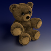 free teddy bear short legs 3d model