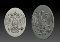 3d model russia coat arms