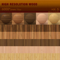 High Resolution Wood Textures Vol. 5 ( 5 PCS )