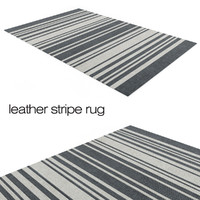 Leather stripe rug