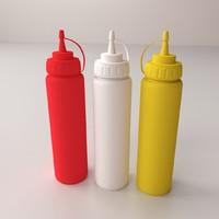 3d model sauce bottles