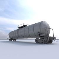 3d train car model