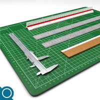 3d rulers cutting mat