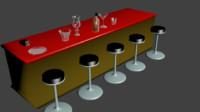 group items bar pub 3d model