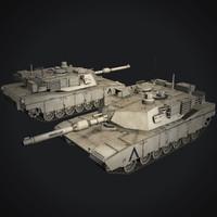 m1a2 abrams 3d model