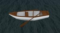 3d model row boat