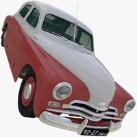 gaz m20v pobeda 1955 3d max