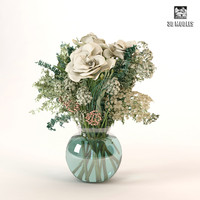 3d model of bouquet roses