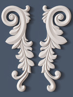 3ds max decorative scroll