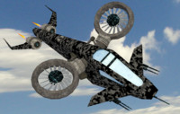 scifi helicopter objects 3d model