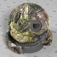 Cycles Material Terrain Grass Stone 1