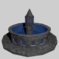 blue tile foundation 3d model