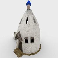 hut hovel games 3d model