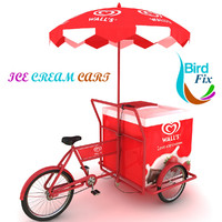 3ds max ice cream cart