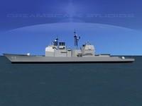 3ds max ticonderoga class cruiser