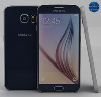 samsung galaxy s6 black 3d 3ds