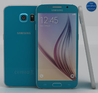 3d samsung galaxy s6 blue model