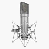 3d model rigged microphone neumann u87