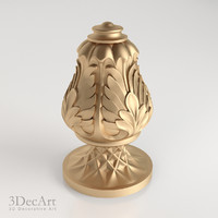 3d model decorative finial