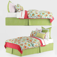 3d model bedding pillows sheet