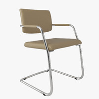 3d office chair delta silver