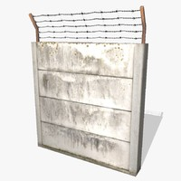 3ds ready concrete fence
