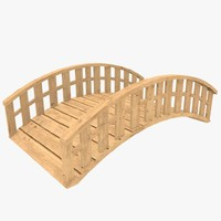 blender ready wooden bridge
