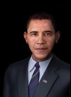 realistic barack obama 3d model