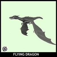 3d model dragon