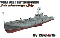 soviet m-class submarine 3d model