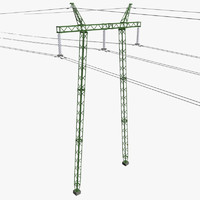 voltage power line 3d model