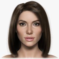 woman girl female 3d max
