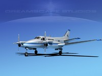 3d beechcraft e90 king air model