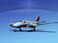 beechcraft e90 king air 3d model