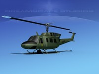 uh1-n bell uh-1n helicopter 3d 3ds